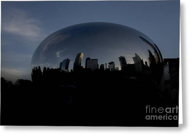 The Chicago Bean In Millenium Park Greeting Card by David Haskett