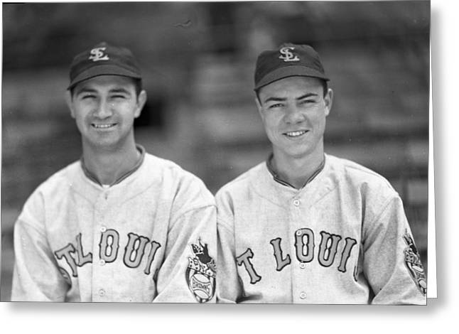 St. Louis Cardinal Baseball Greeting Cards - St. Louis Cardinals Greeting Card by Retro Images Archive