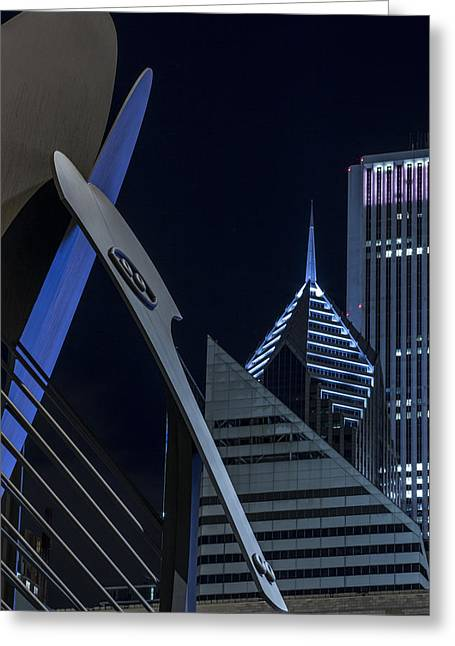 Daley Plaza Greeting Cards - The Chicago Picasso Greeting Card by Krzysztof Hanusiak
