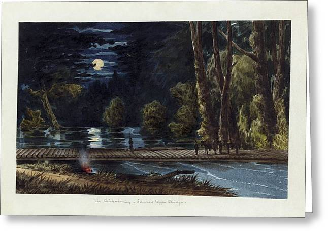 Old Masters Greeting Cards - The Chickahominy- Sumners Upper Bridge Greeting Card by Celestial Images