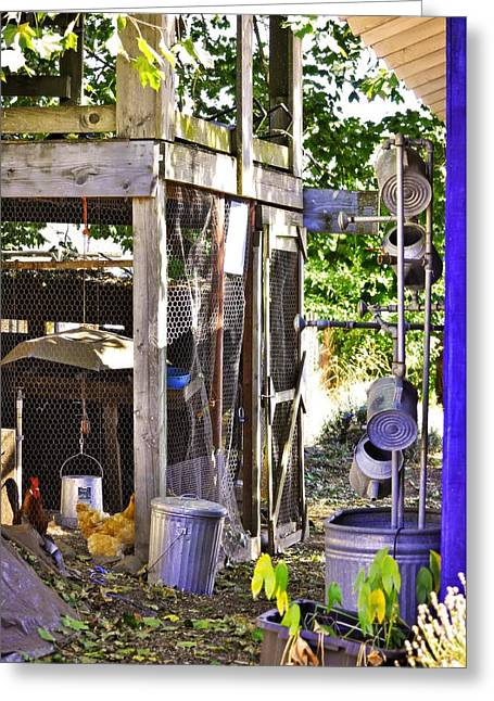 Sauvie Island Greeting Cards - The Chicken Coop Greeting Card by Image Takers Photography LLC - Carol Haddon