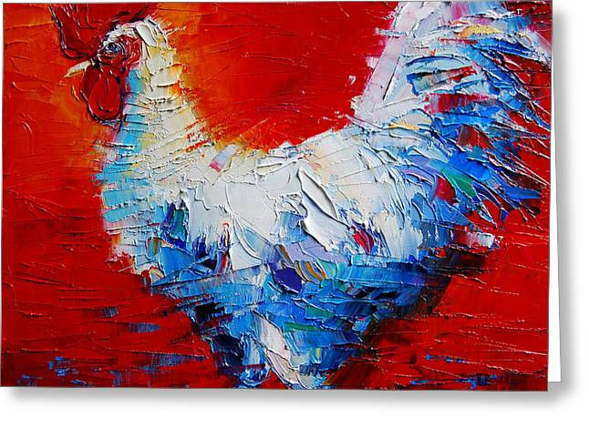The Chicken Of Bresse Greeting Cards - The Chicken Of Bresse Greeting Card by Mona Edulesco