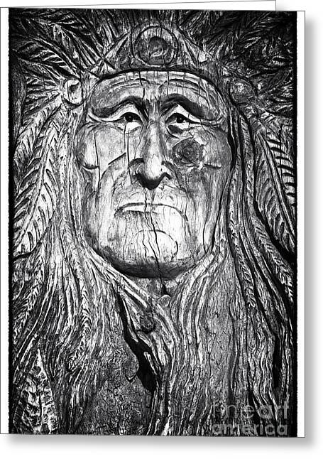 Sinagua Greeting Cards - The Chief Greeting Card by John Rizzuto