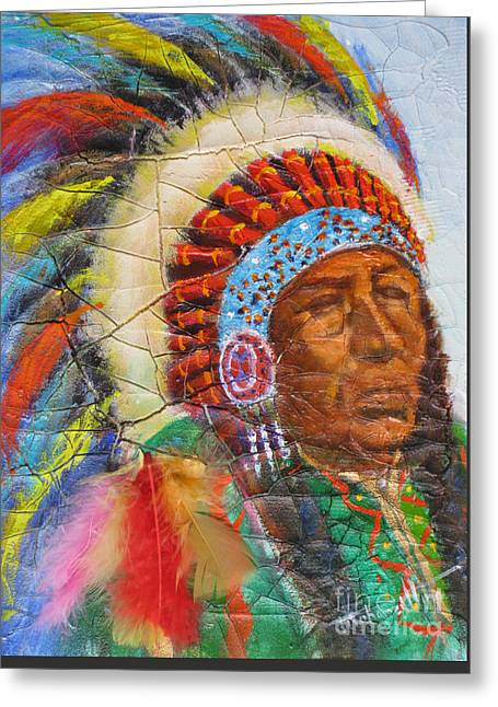 Mohamed Greeting Cards - The Chief Greeting Card by Mohamed Hirji