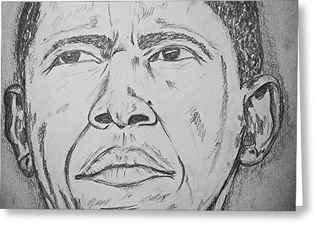 The Chief Obama Greeting Card by Collin A Clarke