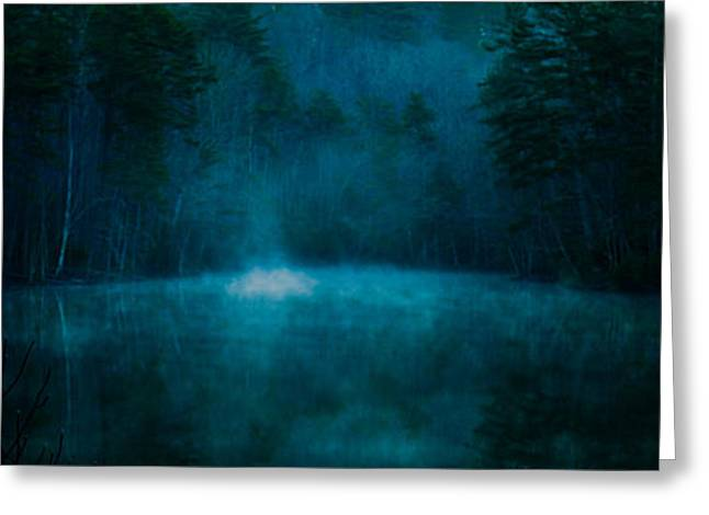 Mystical Landscape Greeting Cards - The Chilling Greeting Card by Optical Playground By MP Ray