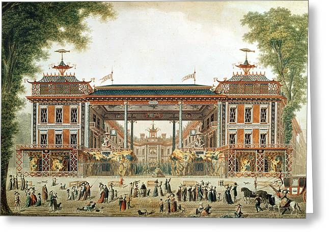 Public Bath Greeting Cards - The Chinese Baths In Paris, Established By Lenoir Wc On Paper Greeting Card by French School