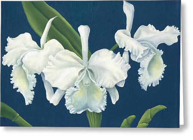 Cattleya Greeting Cards - The Chorus Greeting Card by Deb Burkholder