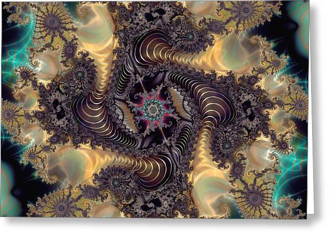 Algorithmic Abstract Greeting Cards - The Chosen One Greeting Card by Kim Redd