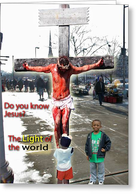 Harlem Mixed Media Greeting Cards - The CHRIST in Harlem Greeting Card by Terry Wallace