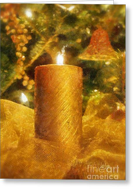 Christmas Candle Greeting Cards - The Christmas Candle Greeting Card by Lois Bryan