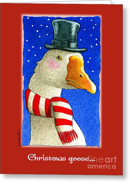 Bullis Greeting Cards - the Christmas goose Greeting Card by Will Bullas