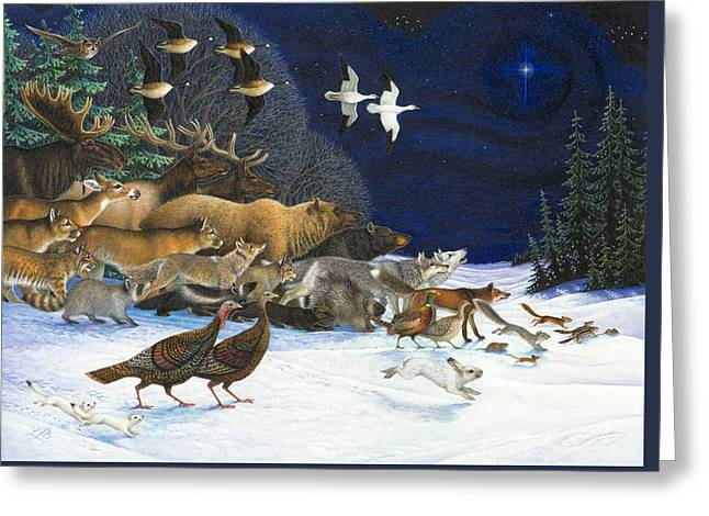 Christmas Star Greeting Cards - The Christmas Star Greeting Card by Lynn Bywaters