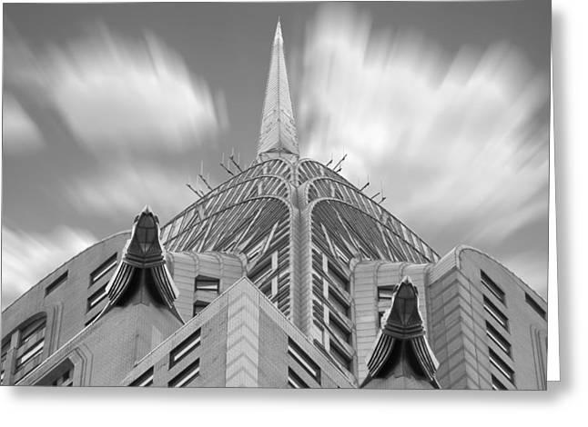 Chrysler Building Digital Art Greeting Cards - The Chrysler Building 2 Greeting Card by Mike McGlothlen
