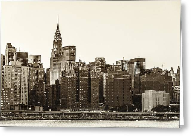 Midtown Greeting Cards - The Chrysler Building and New York City Skyline Greeting Card by Vivienne Gucwa