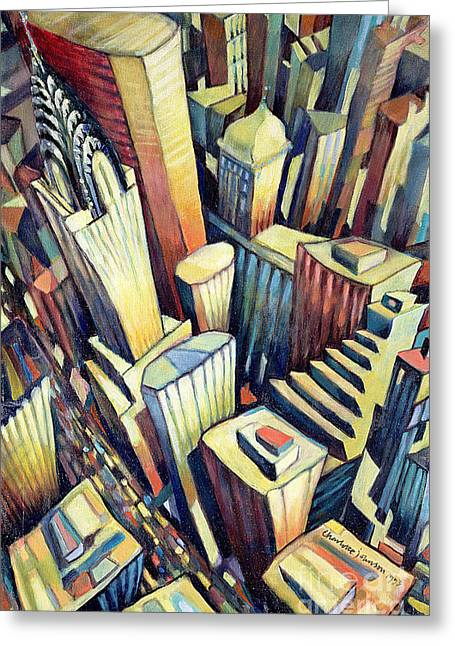 Magnificent Landscape Greeting Cards - The Chrysler Building Greeting Card by Charlotte Johnson Wahl