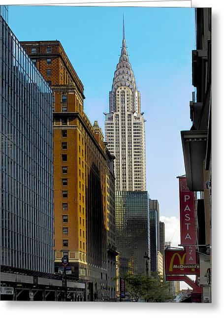 Chrysler Building Digital Art Greeting Cards - The Chrysler Building Greeting Card by Douglas J Fisher