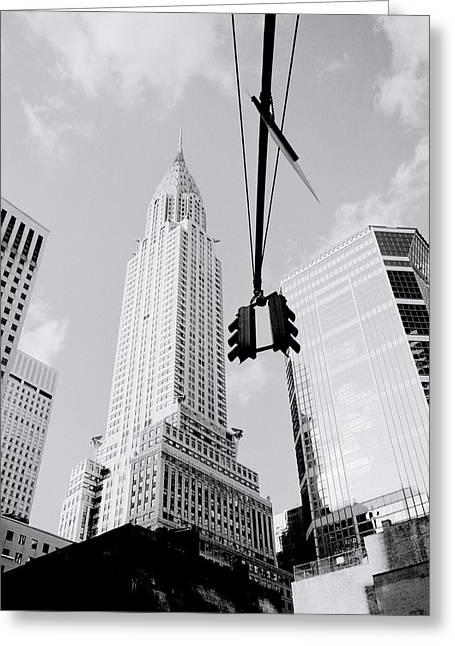 Vertigo Greeting Cards - The Chrysler Building In New York Greeting Card by Shaun Higson