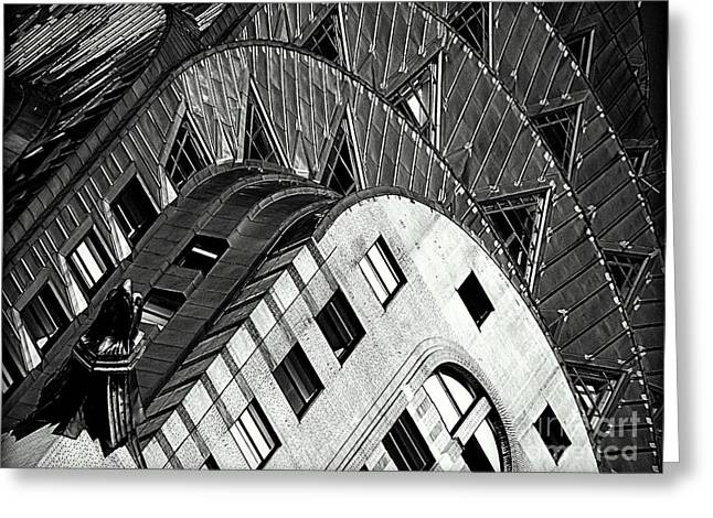 Stainless Steel Greeting Cards - The Chrysler Building Greeting Card by James Aiken