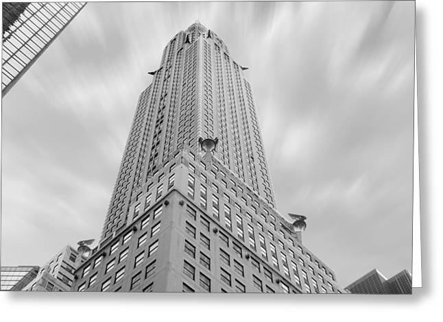 Interesting Digital Greeting Cards - The Chrysler Building Greeting Card by Mike McGlothlen