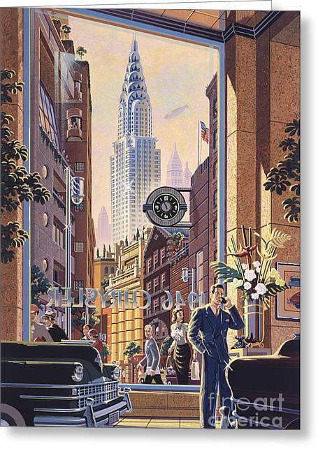1930s Greeting Cards - The Chrysler Greeting Card by Michael Young