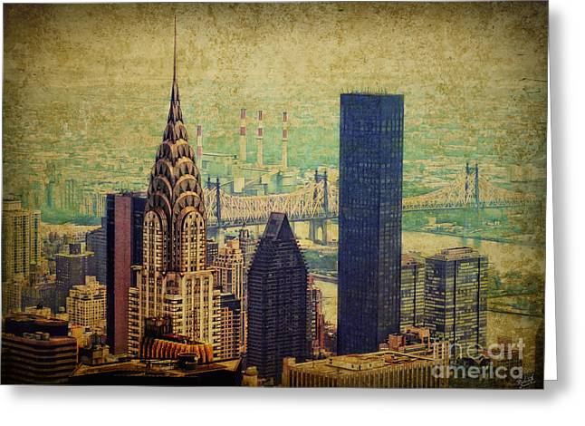 New York Newyork Digital Greeting Cards - The Chrysler Greeting Card by Nishanth Gopinathan
