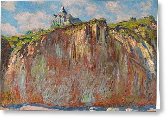 The Church At Varengeville Greeting Card by Claude Monet