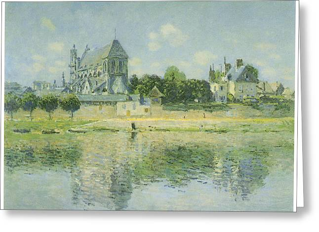 The Church Greeting Cards - The Church at Vernon Greeting Card by Claude Monet