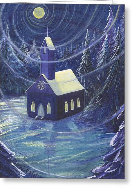 The Church Greeting Card by Beckie J Neff