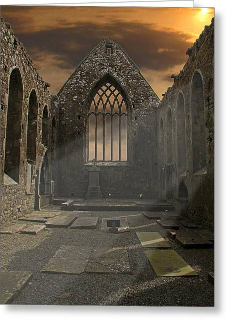 The Church Greeting Card by Brendan Quinn