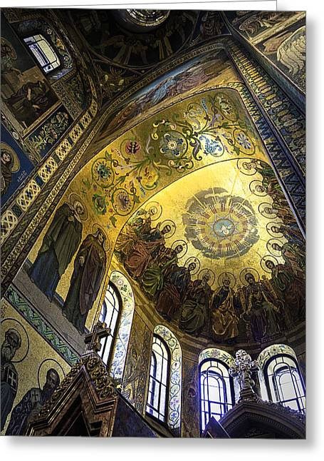 Tsar Alexander Greeting Cards - The Church Of Our Savior On Spilled Blood 2 - St. Petersburg - Russia Greeting Card by Madeline Ellis
