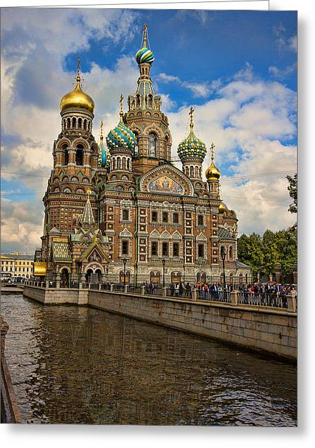 1907 Greeting Cards - The Church of Our Savior on Spilled Blood Greeting Card by Jens Lambert