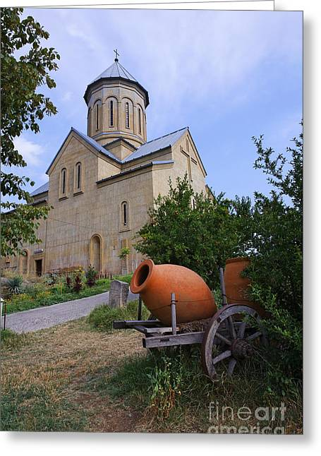 Nicholas Greeting Cards - The Church of St Nicolas inside the Narikala Fortress Tbilisi Greeting Card by Robert Preston