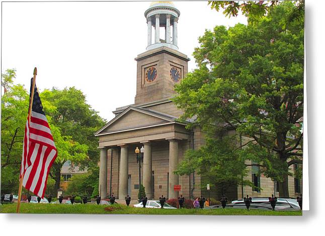 Rose Cottage Gallery Mixed Media Greeting Cards - The Church of the Presidents Greeting Card by Barbara McDevitt
