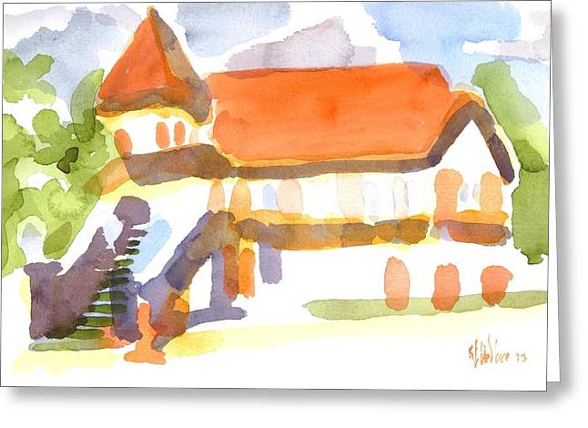 The Church on Shepherd Street V Greeting Card by Kip DeVore