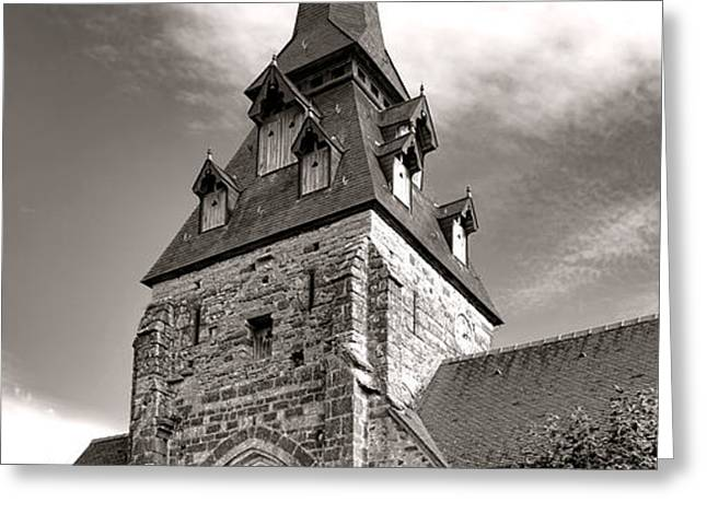The Church with the Dormers on the Steeple Greeting Card by Olivier Le Queinec