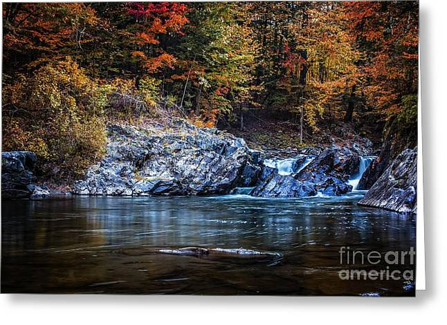 Vermont Landscapes Greeting Cards - The Chutes Greeting Card by Edward Fielding