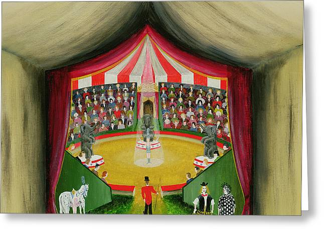 Big Top Greeting Cards - The Circus, 1979 Greeting Card by Mark Baring