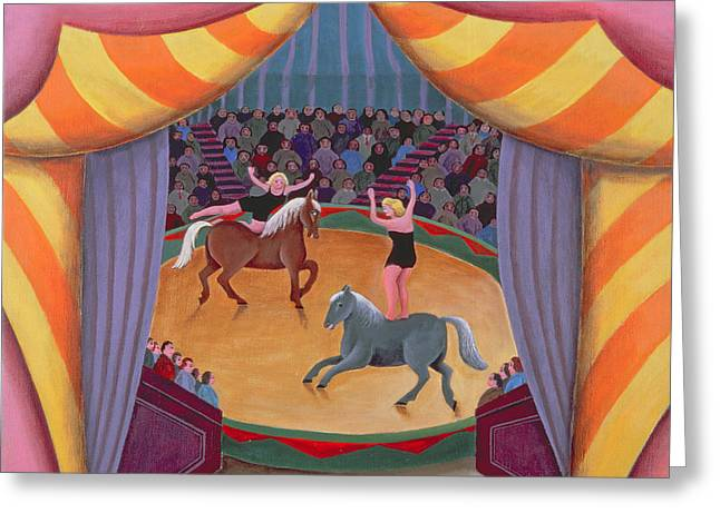 Big Top Greeting Cards - The Circus Greeting Card by Jerzy Marek