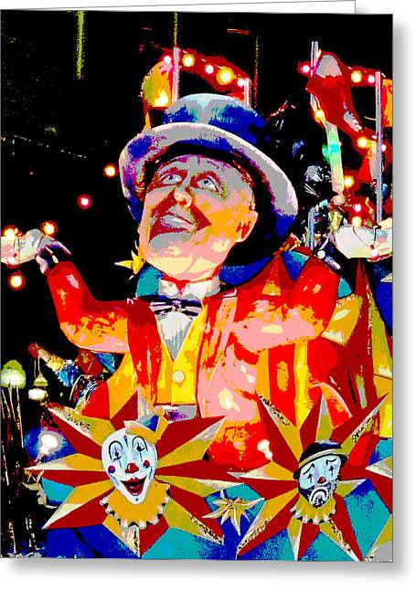 Circus Graphics Greeting Cards - The Circus Greeting Card by Marian Bell
