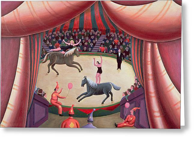 Acrobat Greeting Cards - The Circus Ring Greeting Card by Jerzy Marek