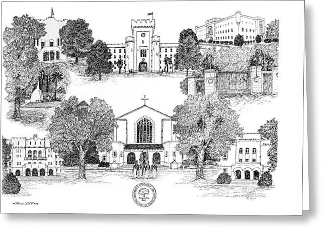 Bryant Greeting Cards - The Citadel Military College of South Carolina Greeting Card by Jessica  Bryant