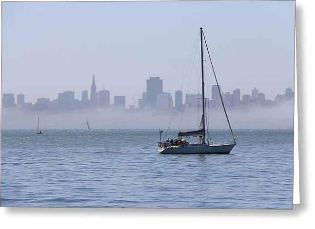 Sausalito Greeting Cards - The City By The Bay Greeting Card by Michael Williams