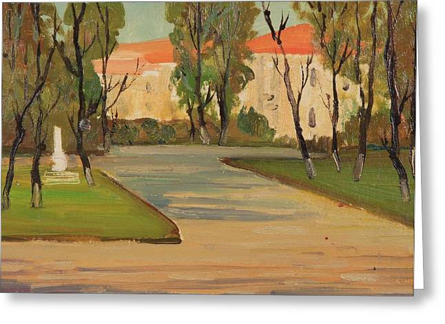 Great Mysteries Paintings Greeting Cards - The City Garden Greeting Card by Ivan Shikerov