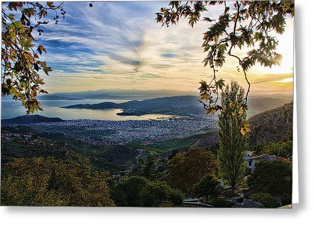 Pelion Greeting Cards - The city Greeting Card by George Leontaras