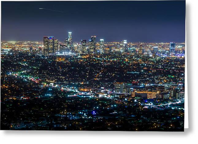 Staples Center Greeting Cards - The City of Angels Greeting Card by Arnaldo Torres