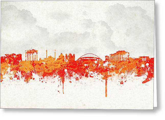 Acropolis Greeting Cards - The City of Athens Greece Greeting Card by Aged Pixel