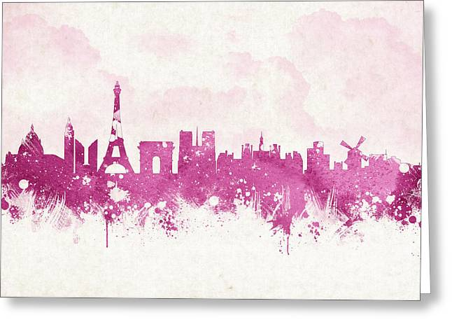 Historic Building Mixed Media Greeting Cards - The City Of Love Greeting Card by Aged Pixel