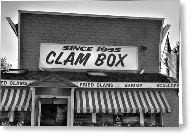 Local Restaurants Greeting Cards - The Clam Box Greeting Card by Joann Vitali