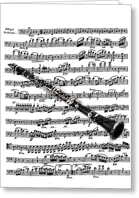 The Clarinet Greeting Card by Ron Davidson